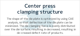 Center press clamping structure